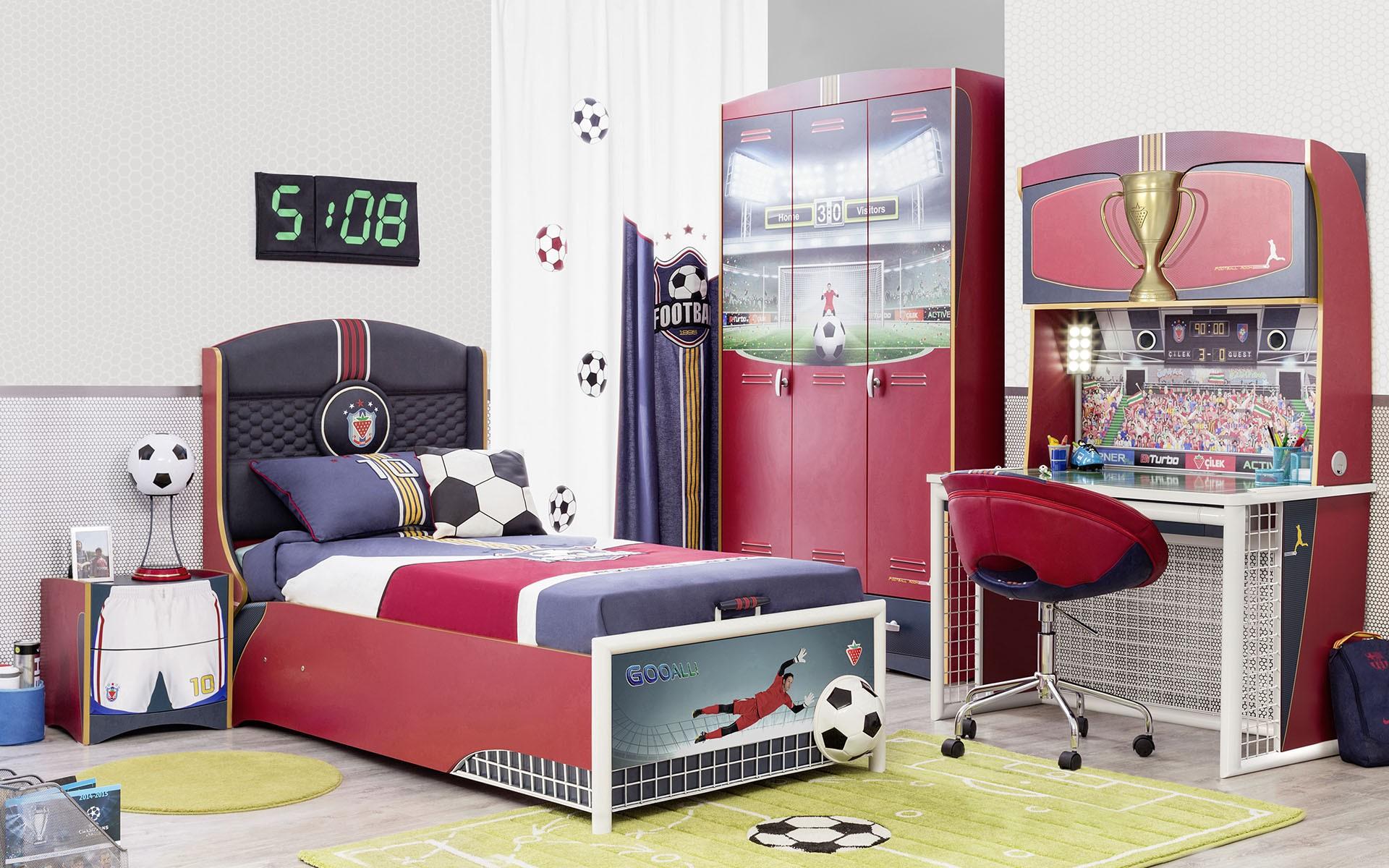 Планировка детской в футбольной тематике