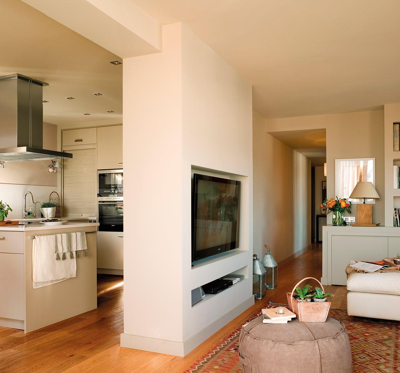 Дизайн кухни гостиной с гипсокартонной перегородкой
