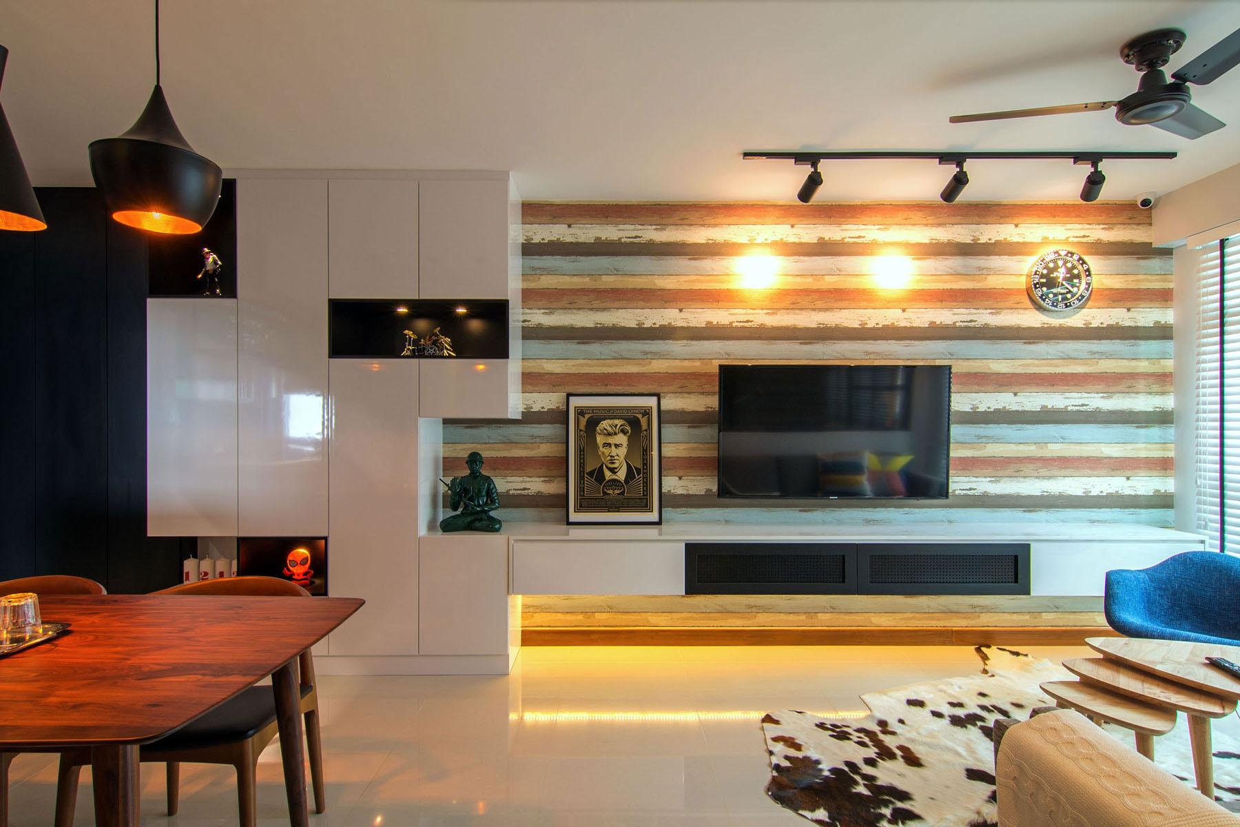 Однокомнатная квартира 40 кв м с глянцевой мебелью
