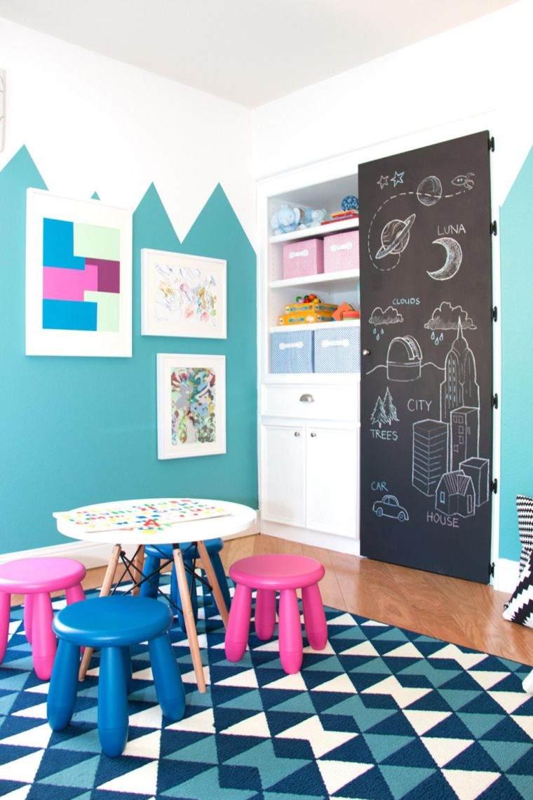 Декор стен детской грифельной доской