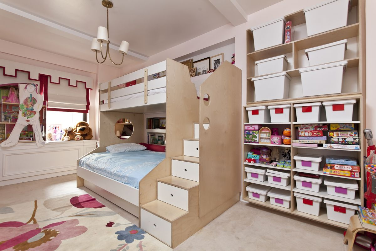 Детская для двоих детей с системой хранения