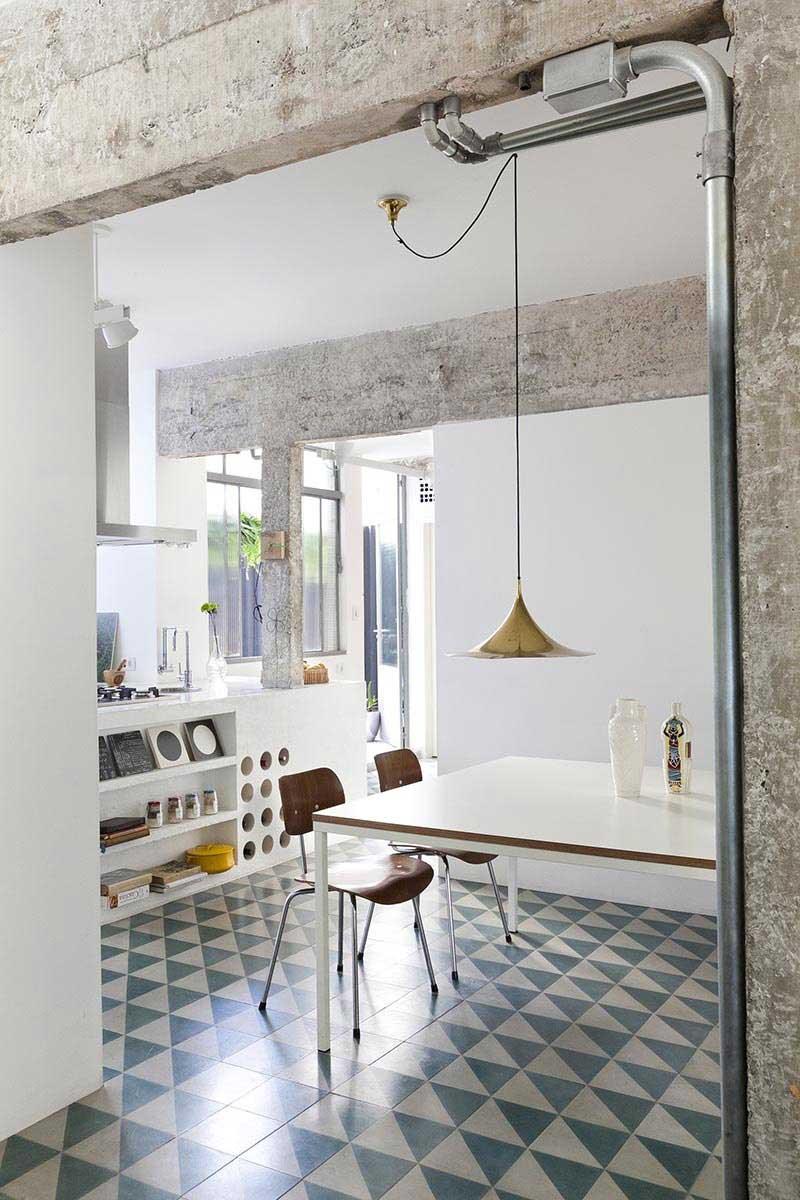 Дизайн кухни гостиной в индустриальном стиле