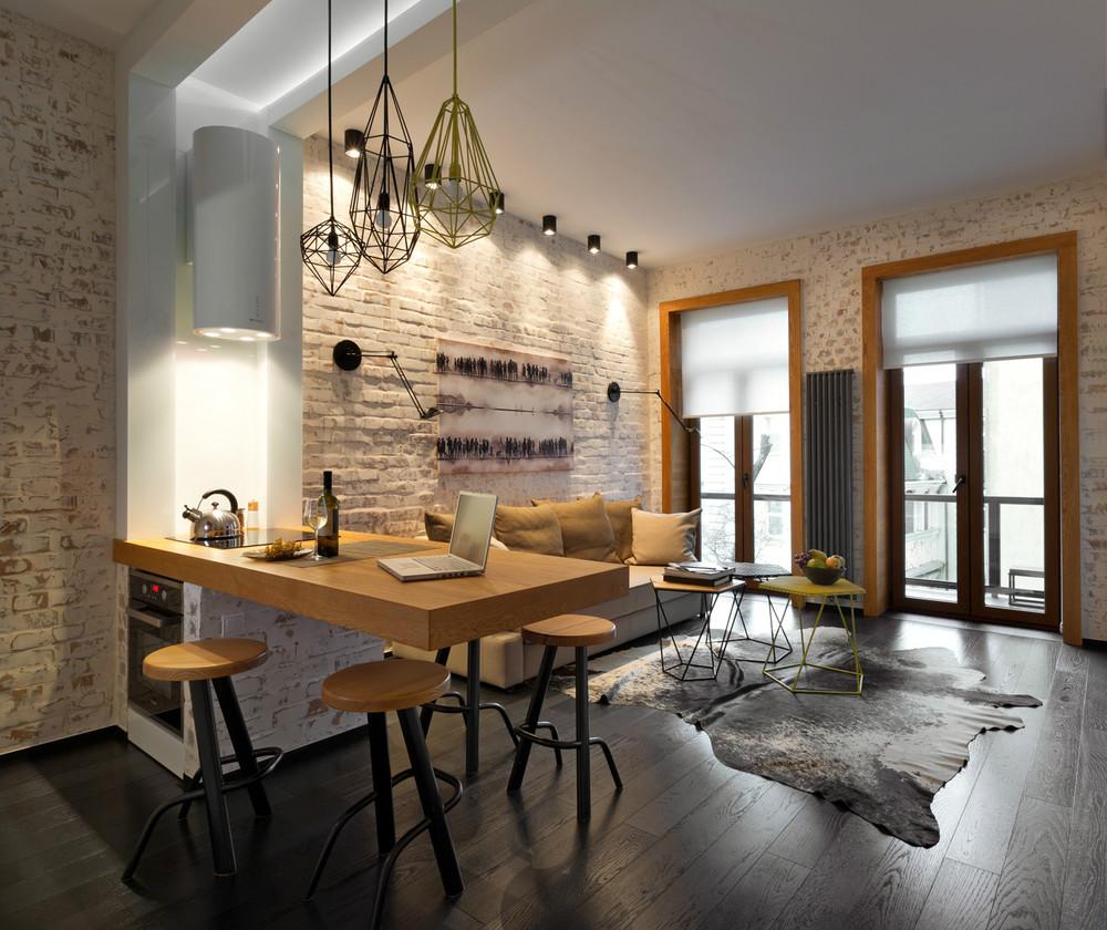 Однокомнатная квартира 40 кв м с кирпичной отделкой