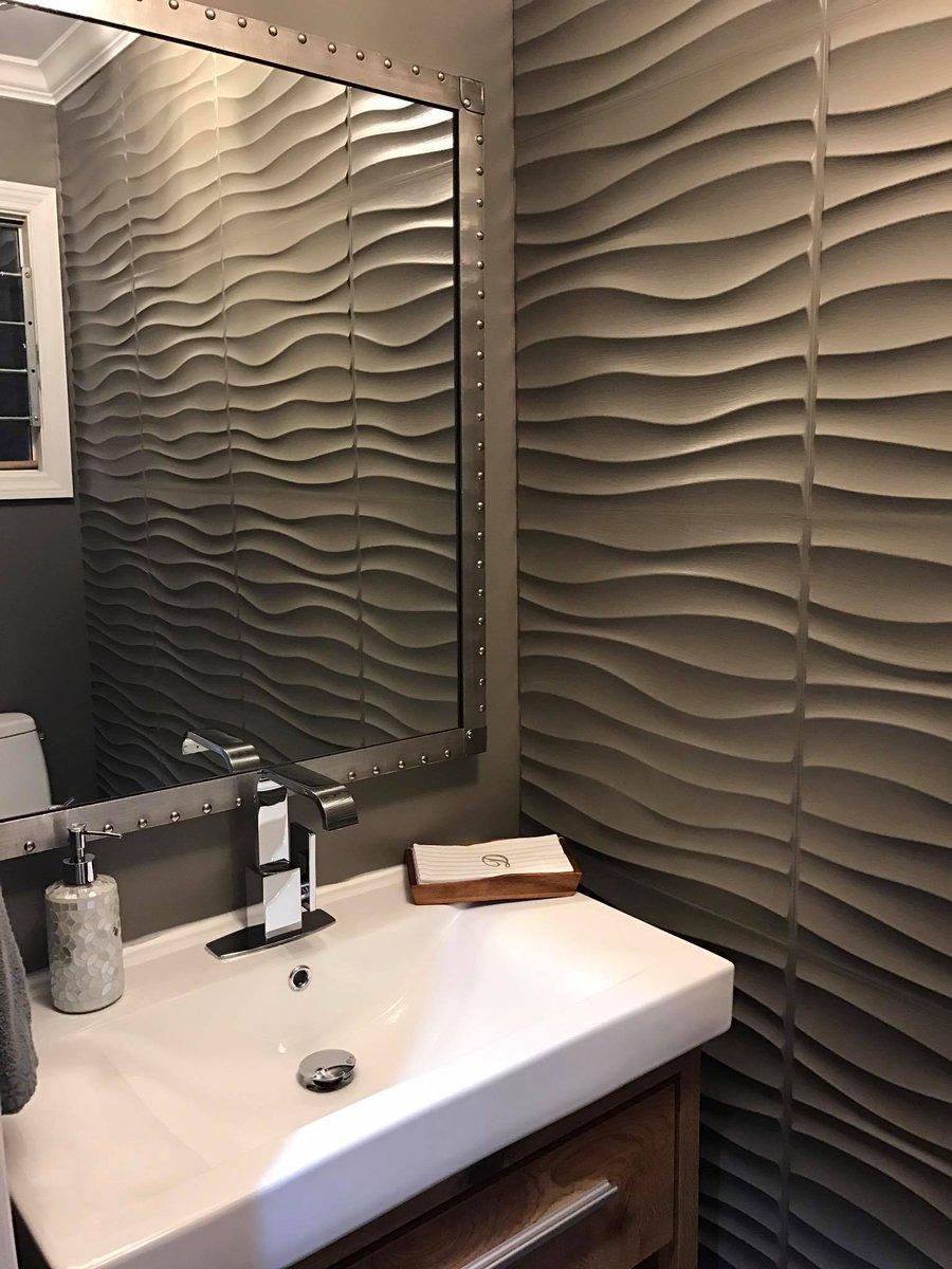 Ремонт туалета панелями коричневыми