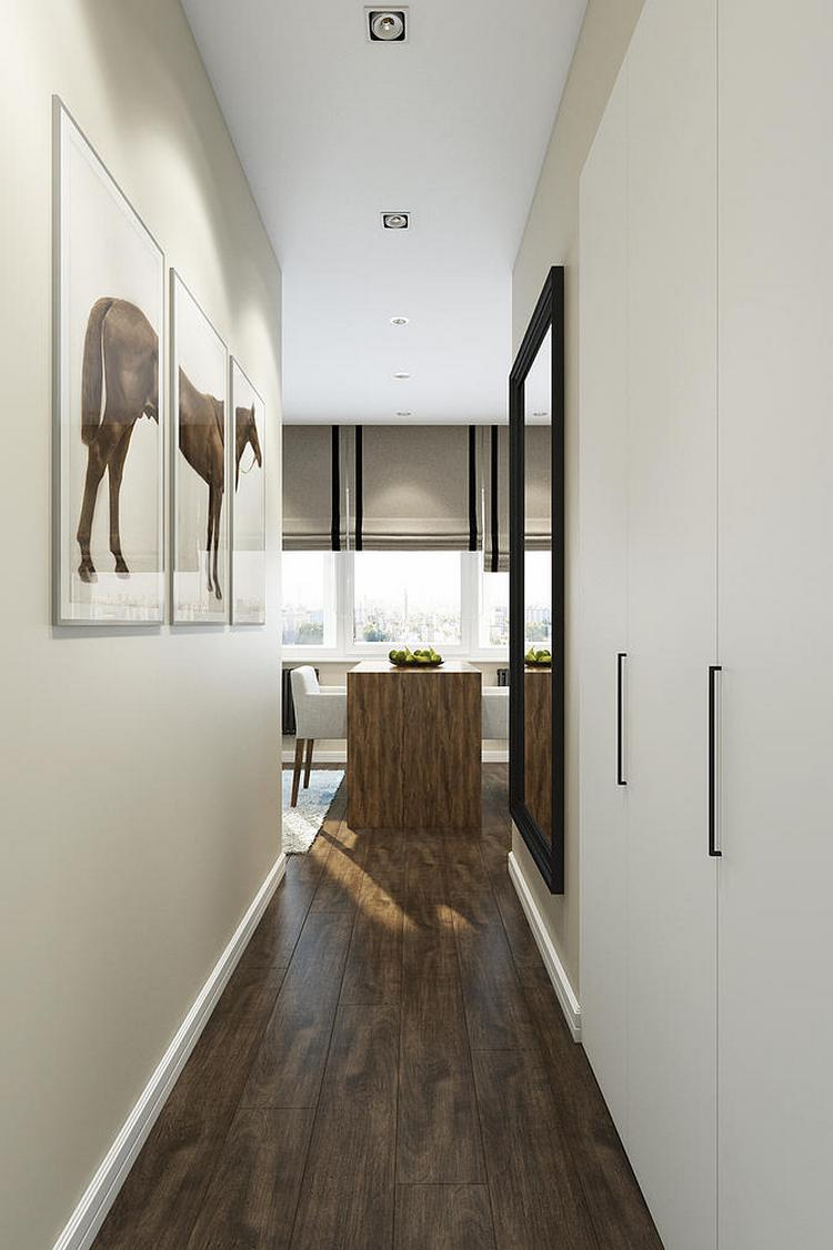 Однокомнатная квартира 40 кв м коридор