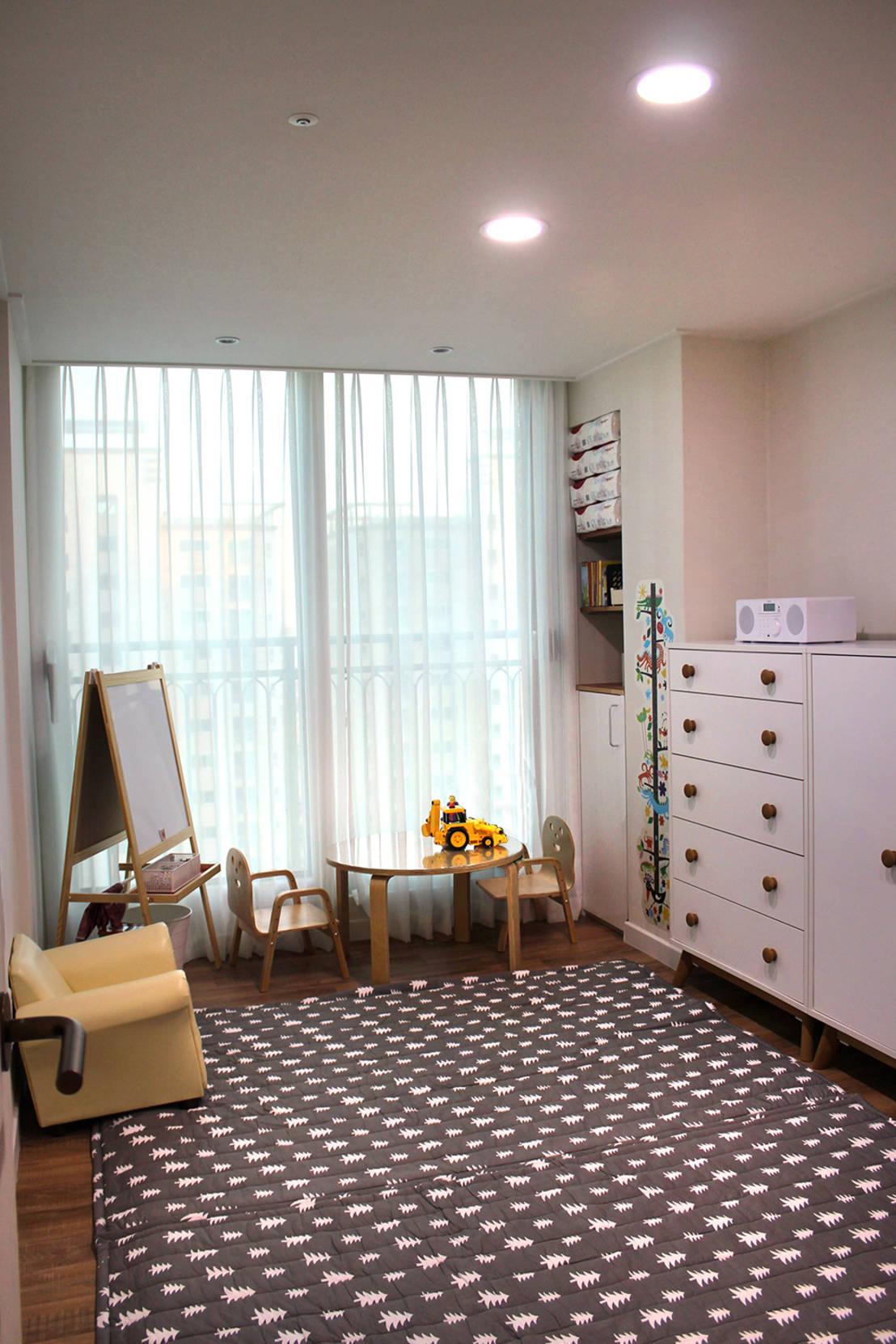 Декор детской комнаты с ковром