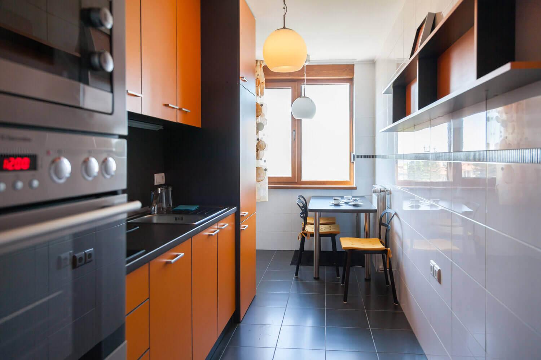 Однокомнатная хрущевка кухня