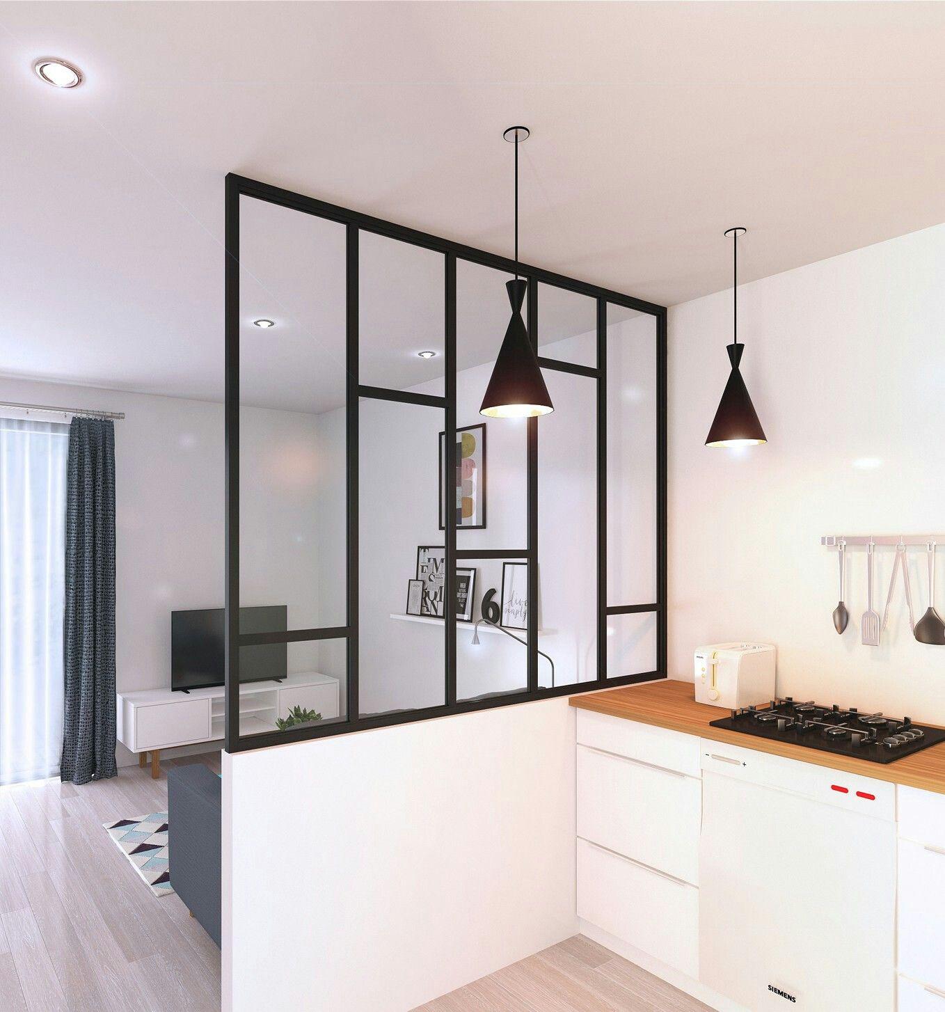 Межкомнатная перегородка между кухней и гостиной