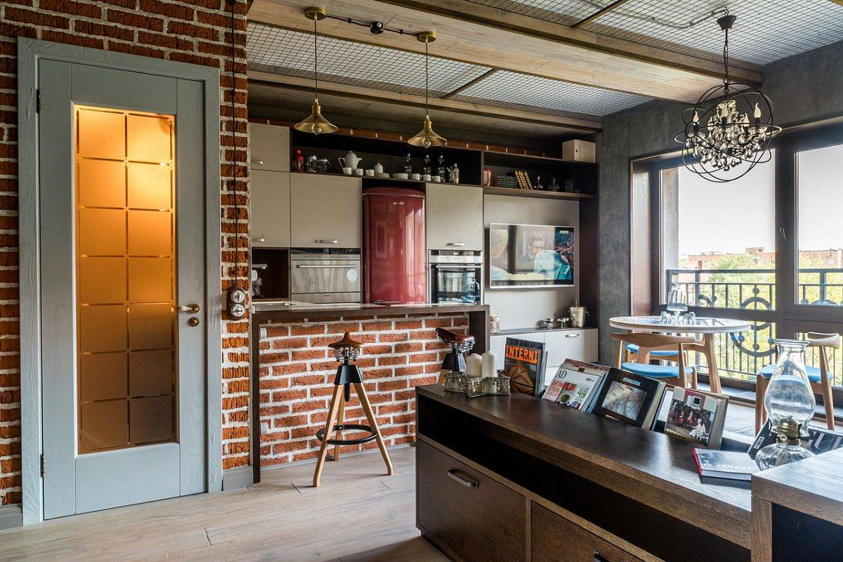 Однокомнатная квартира 40 кв м в стиле лофт