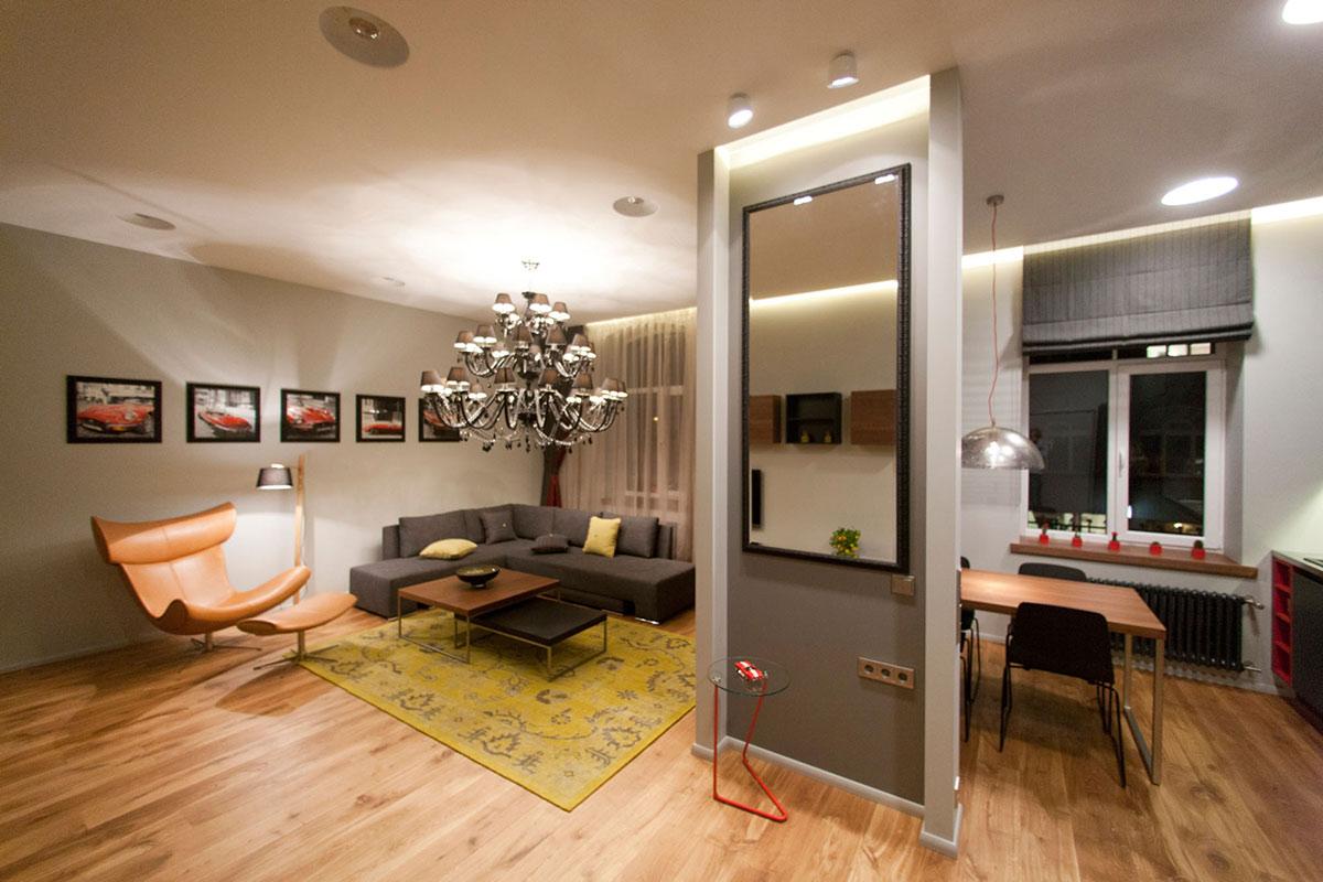 Однокомнатная квартира 40 кв м с люстрой