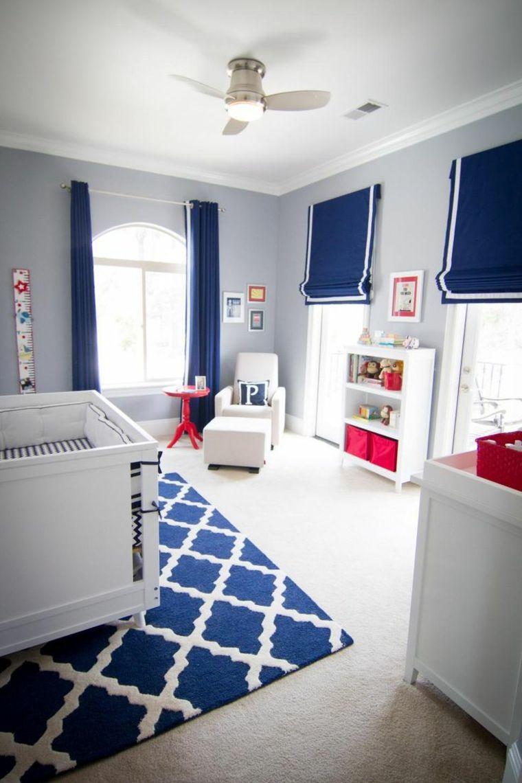 Декор детской комнаты для мальчика в синем цвете