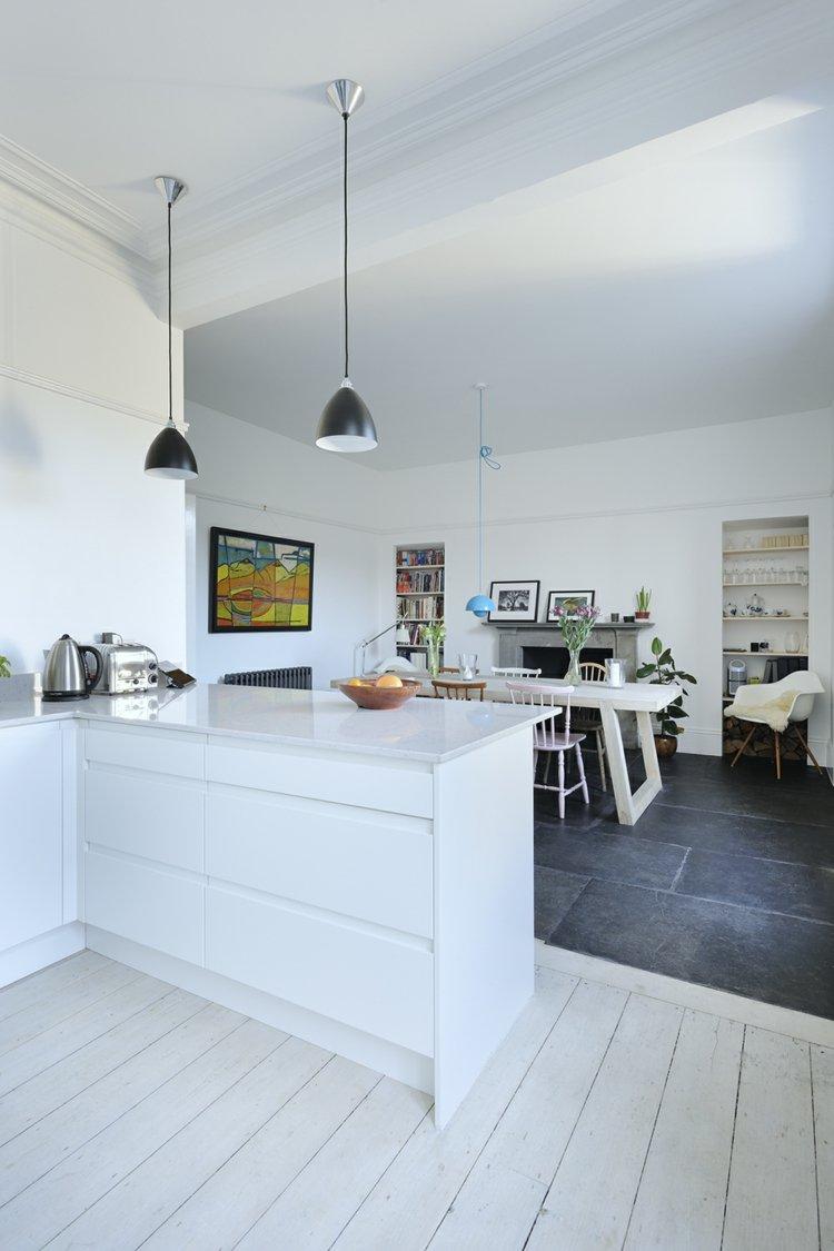 Дизайн кухни гостиной МДФ