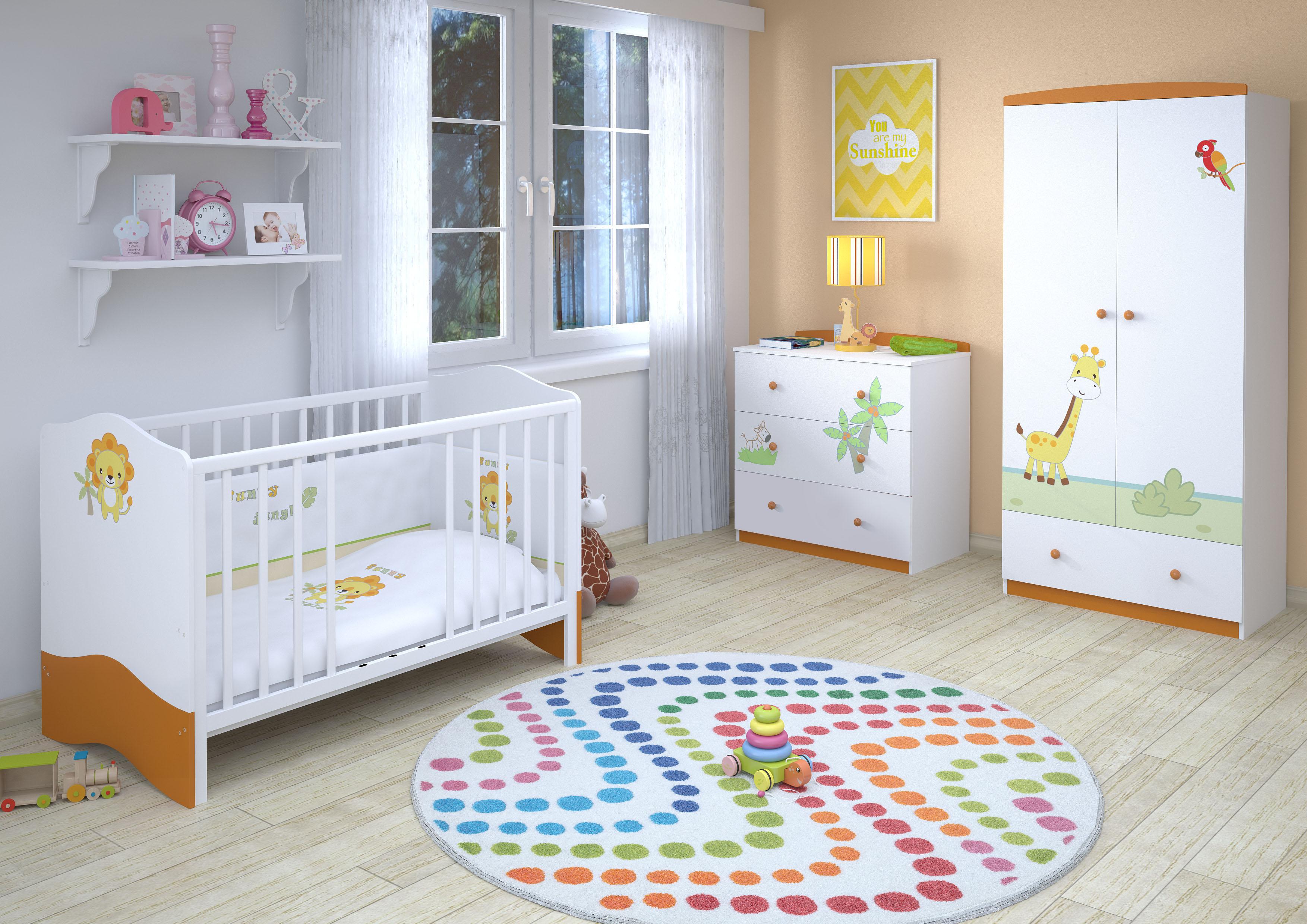 Планировка детской с мебелью