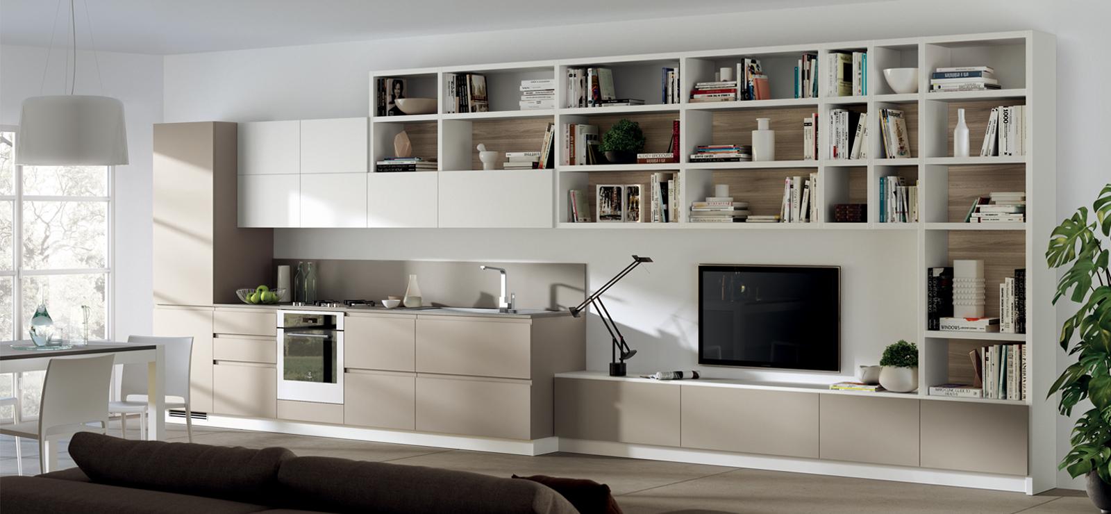 Дизайн кухни гостиной с мебелью