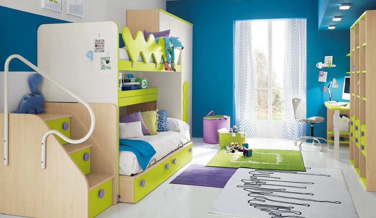 Детская для двоих детей с мебелью