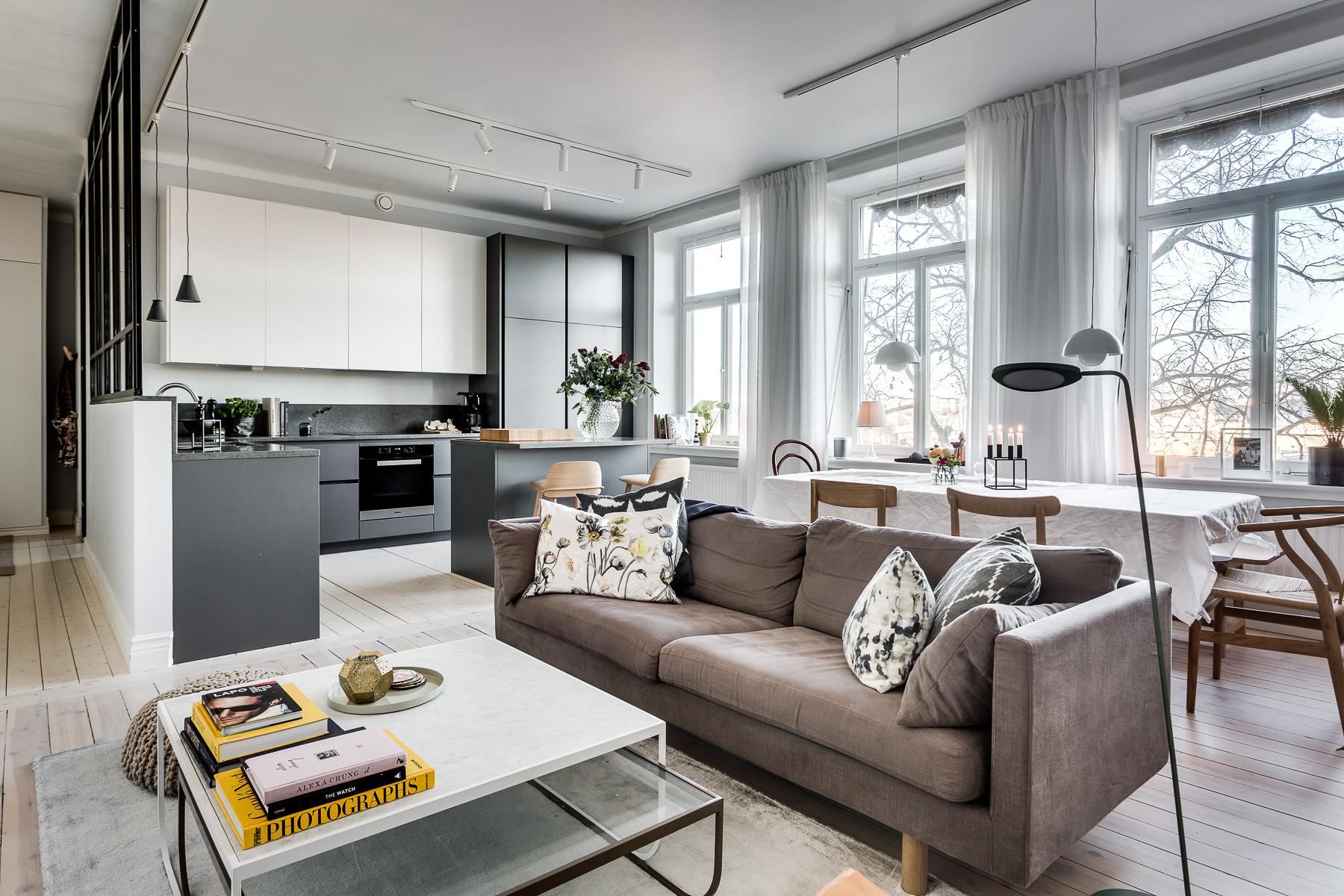 Однокомнатная квартира 40 кв м с мебелью