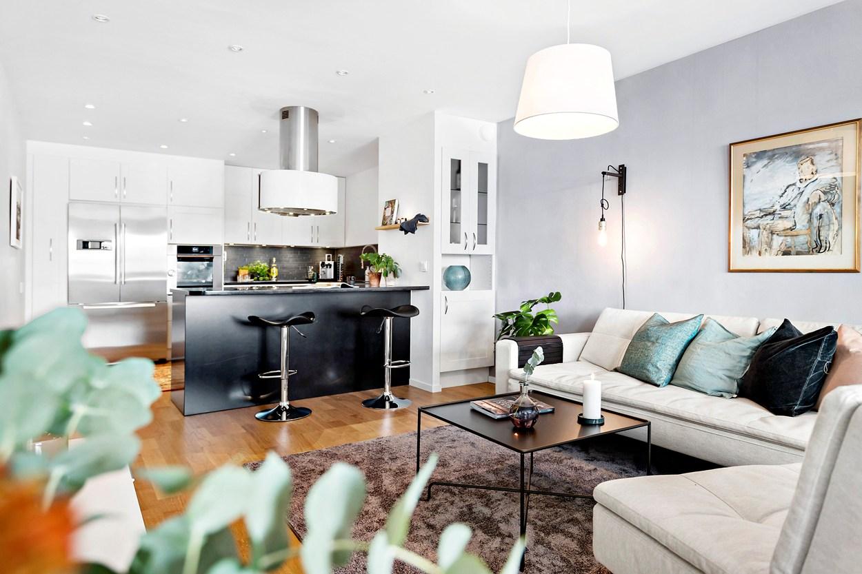 Дизайн кухни-гостиной: как создать стильный объединенный интерьер (103 фото)