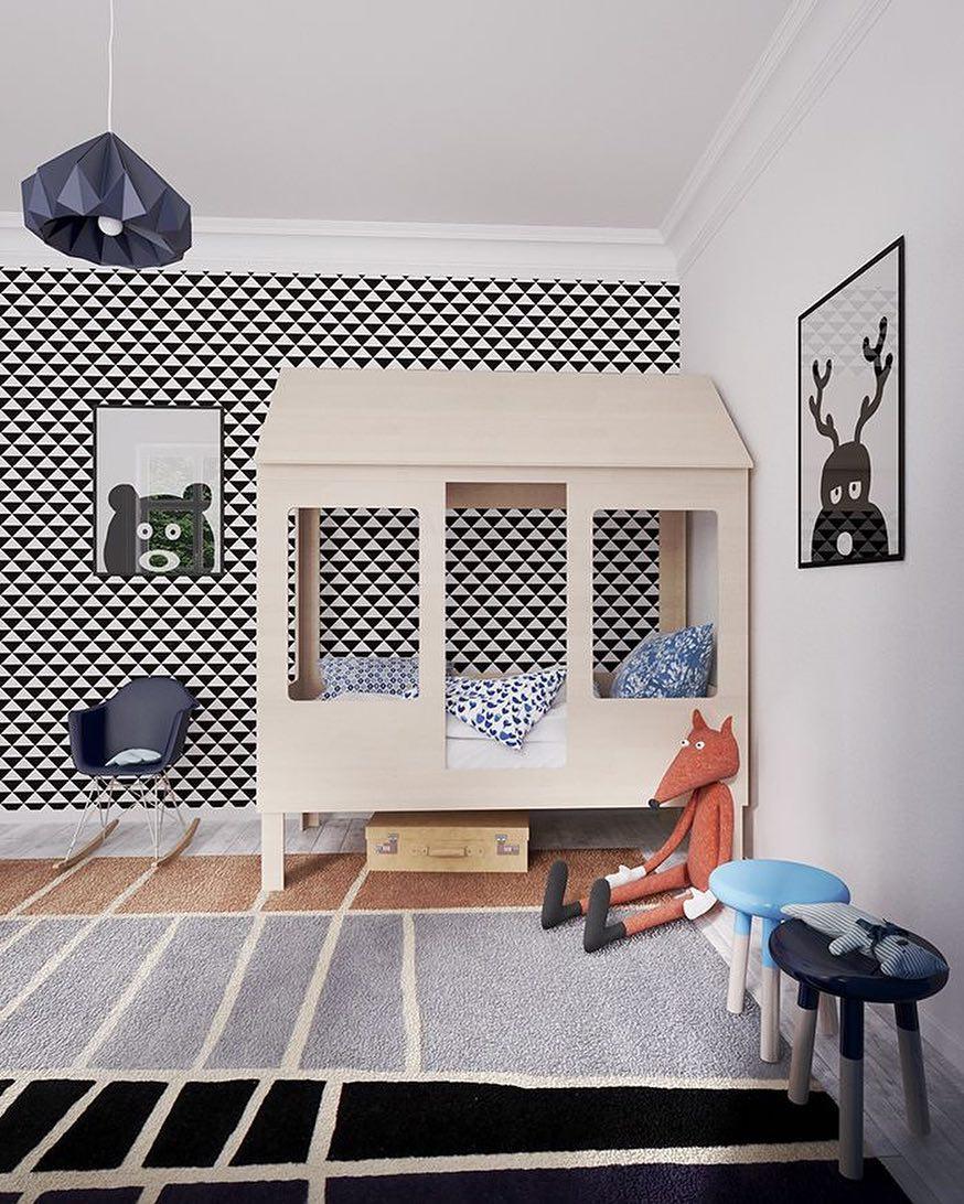 Декор детской комнаты в стиле модерн