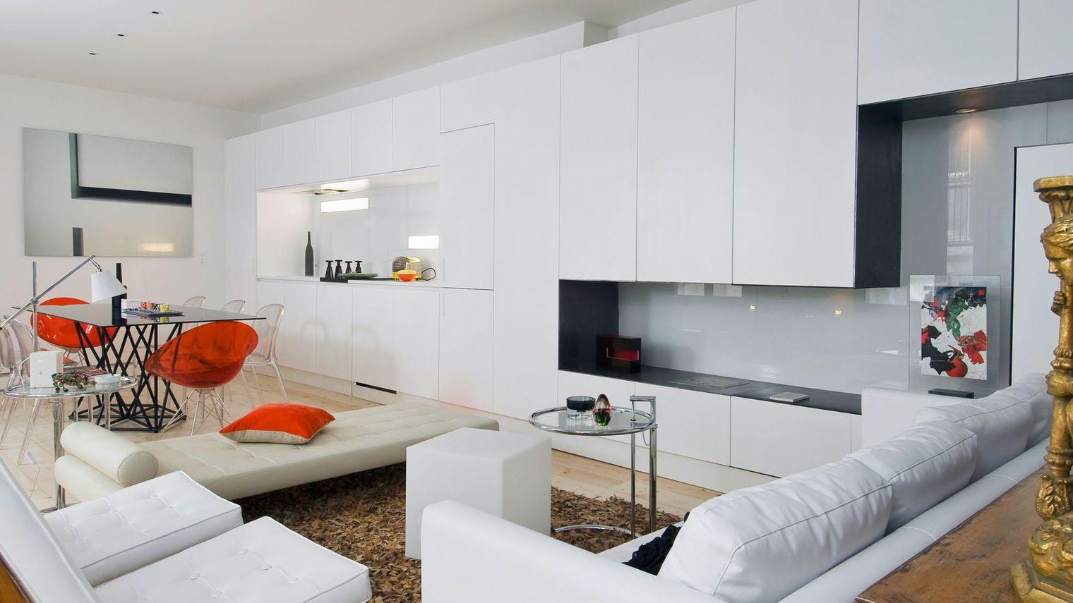 Дизайн кухни гостиной модульной