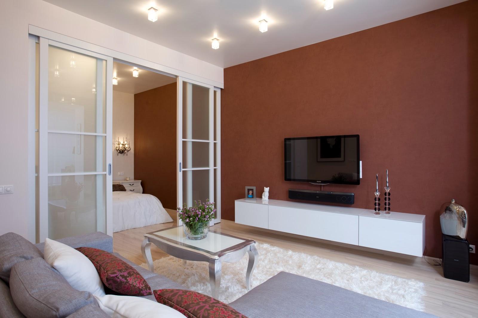 Однокомнатная квартира 40 кв м в стиле неоклассики
