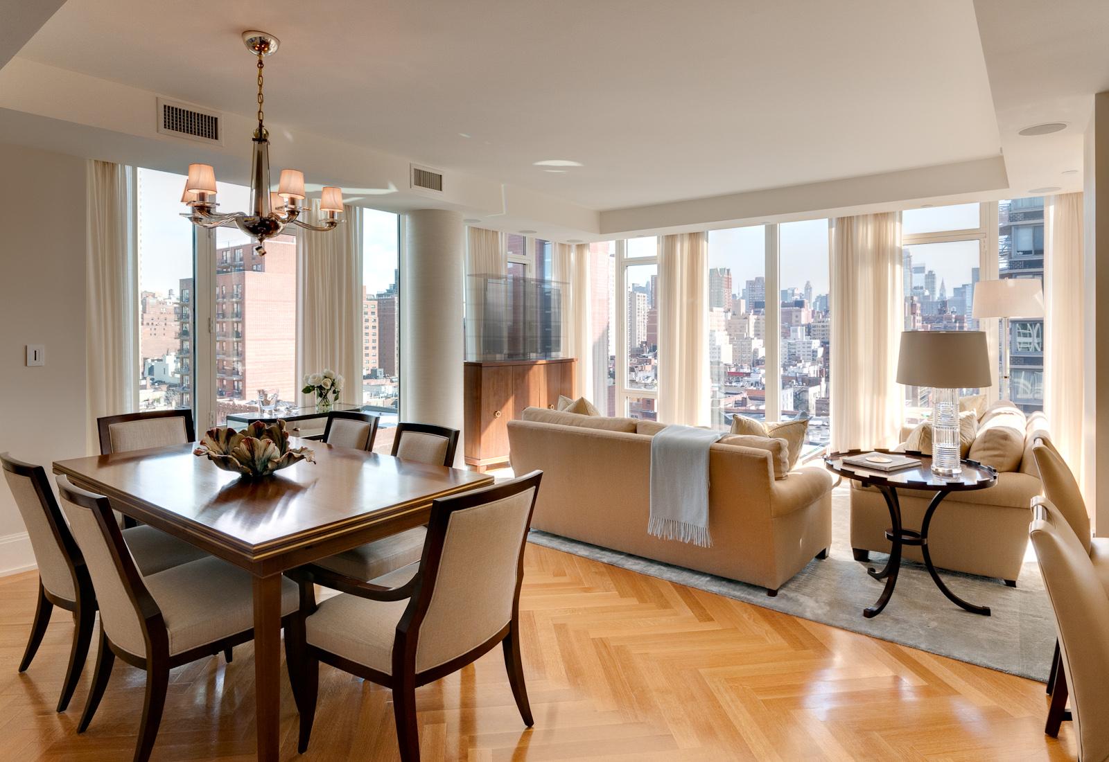 Дизайн кухни гостиной в неоклассическом стиле