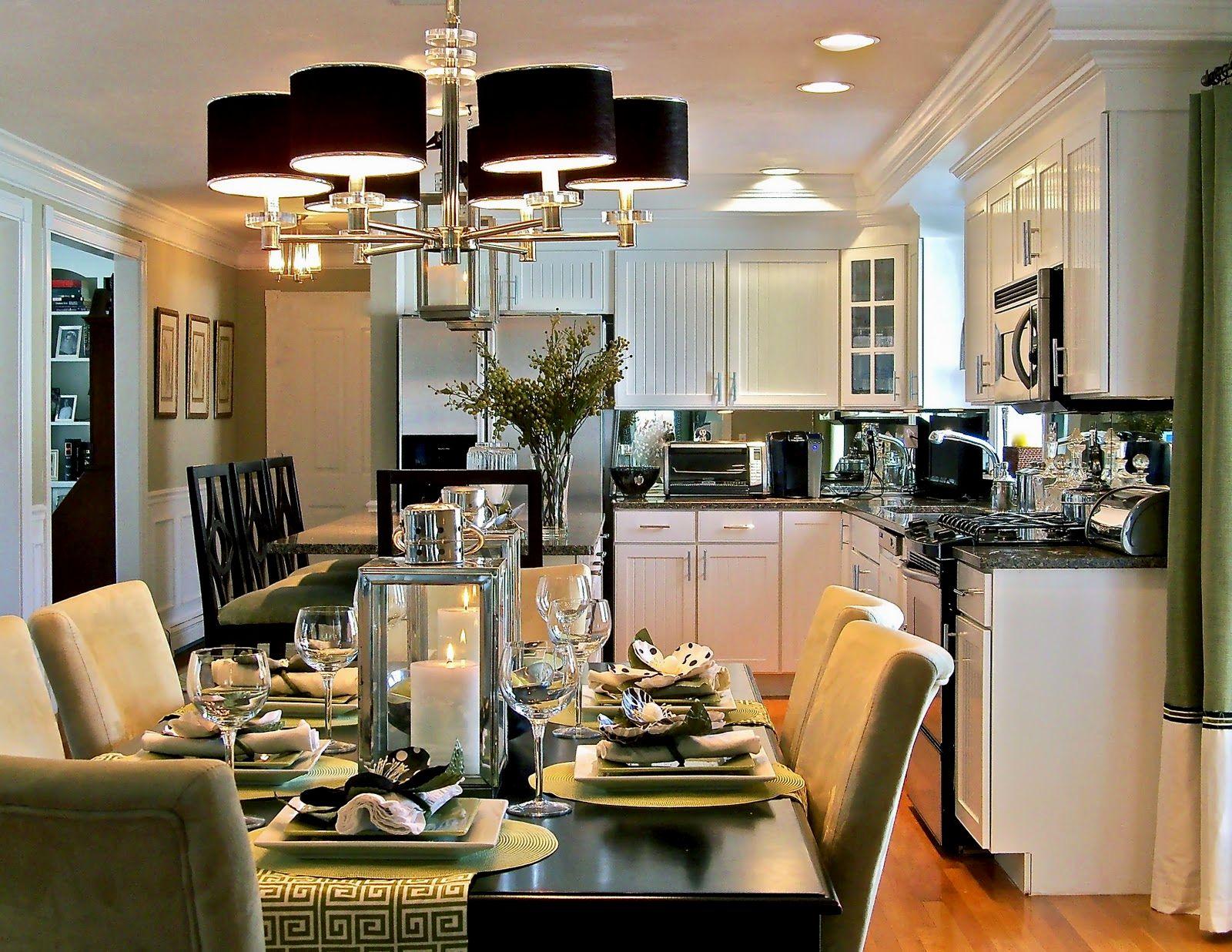Дизайн кухни гостиной с обеденным столом