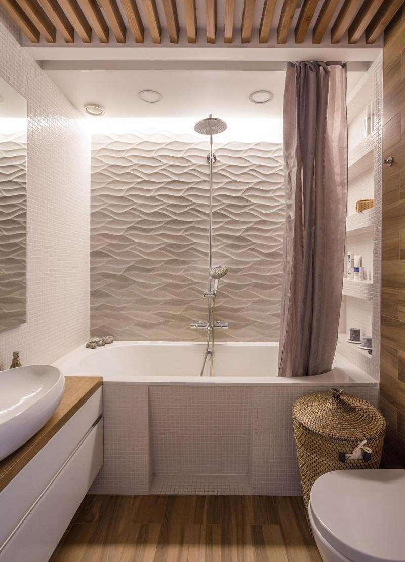 Ремонт туалета панелями объемными