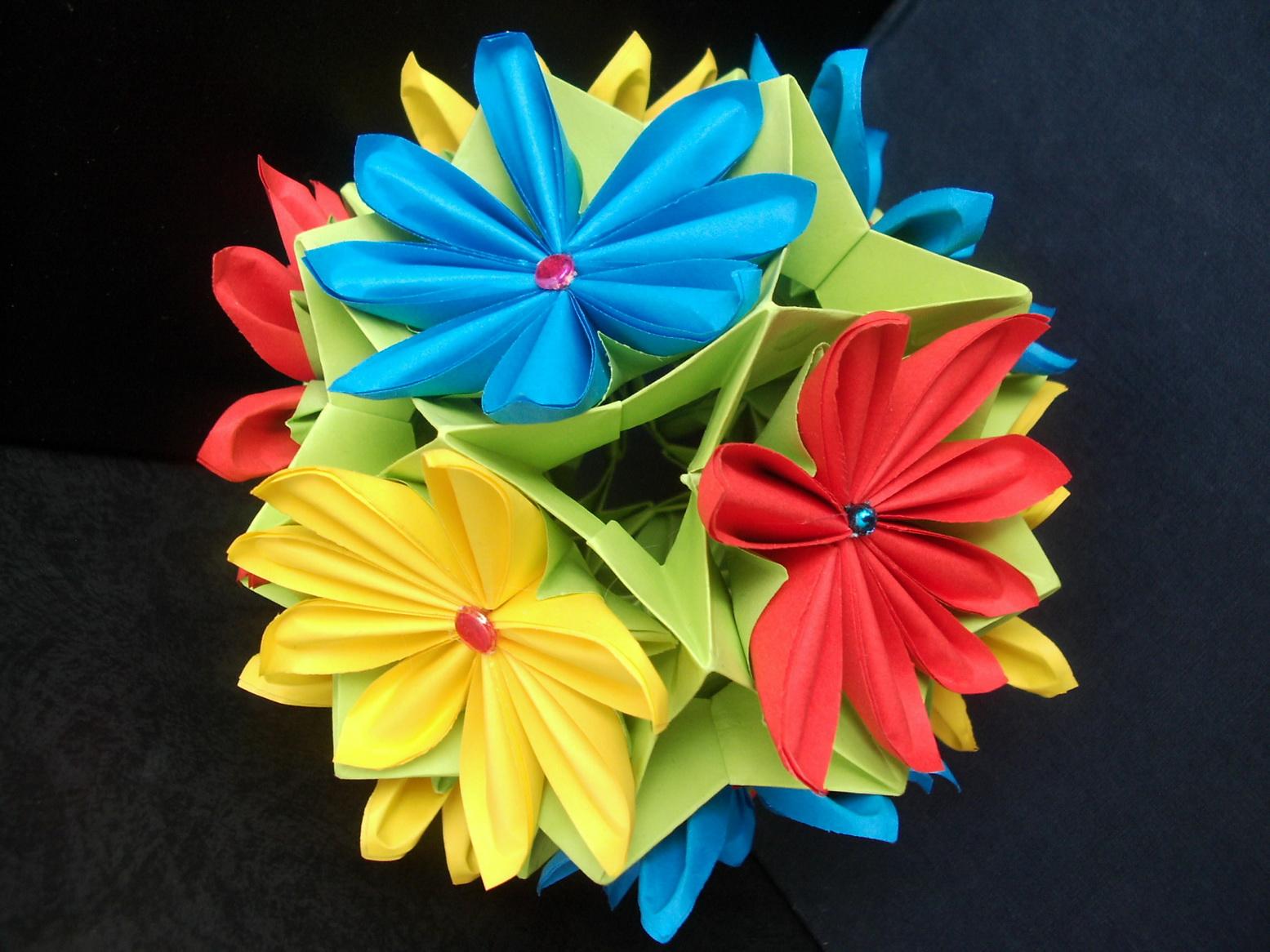 Поделки на 8 марта оригами из бумаги