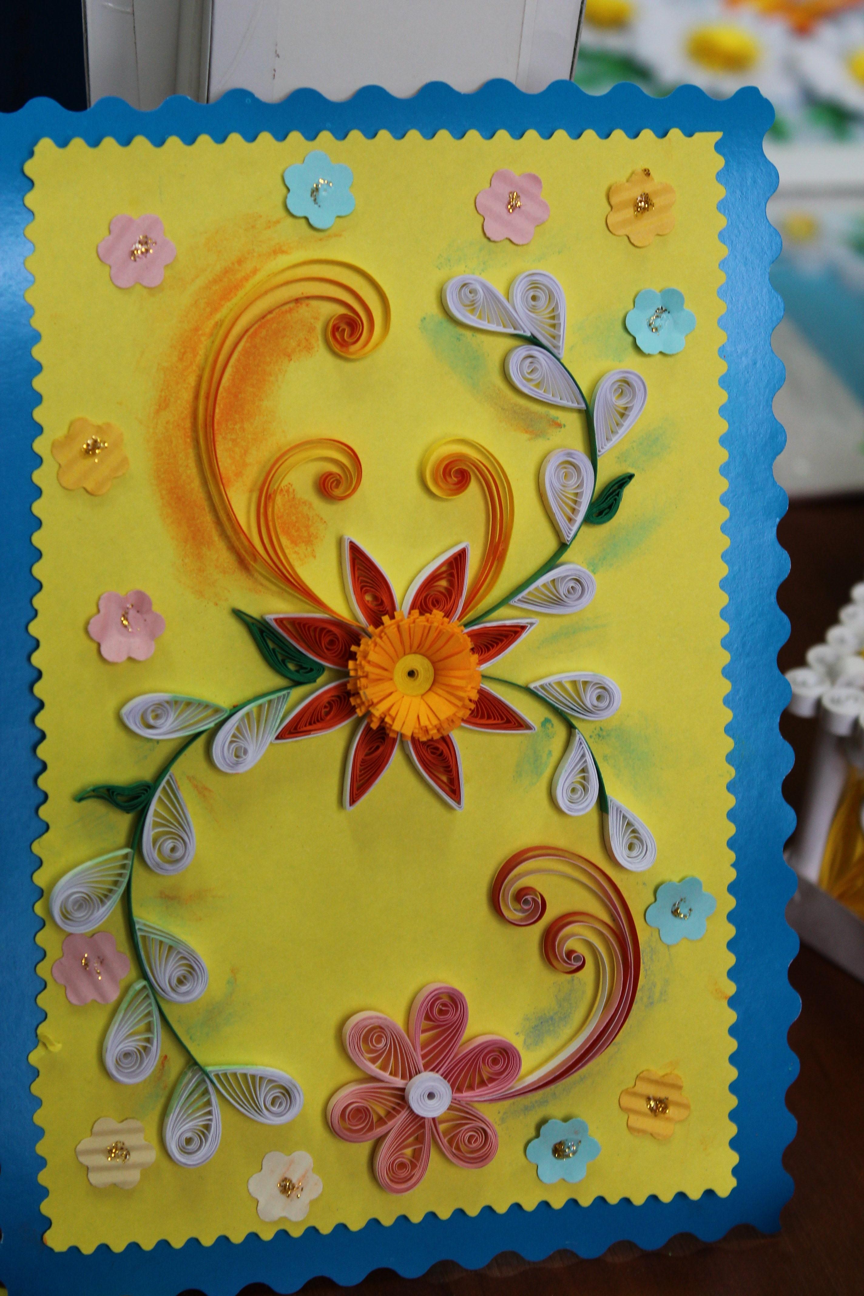 Подарок на 8 марта своими руками открытка квиллинг
