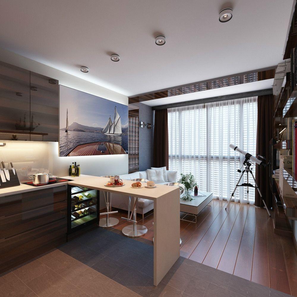 Однокомнатная квартира 40 кв м для парня