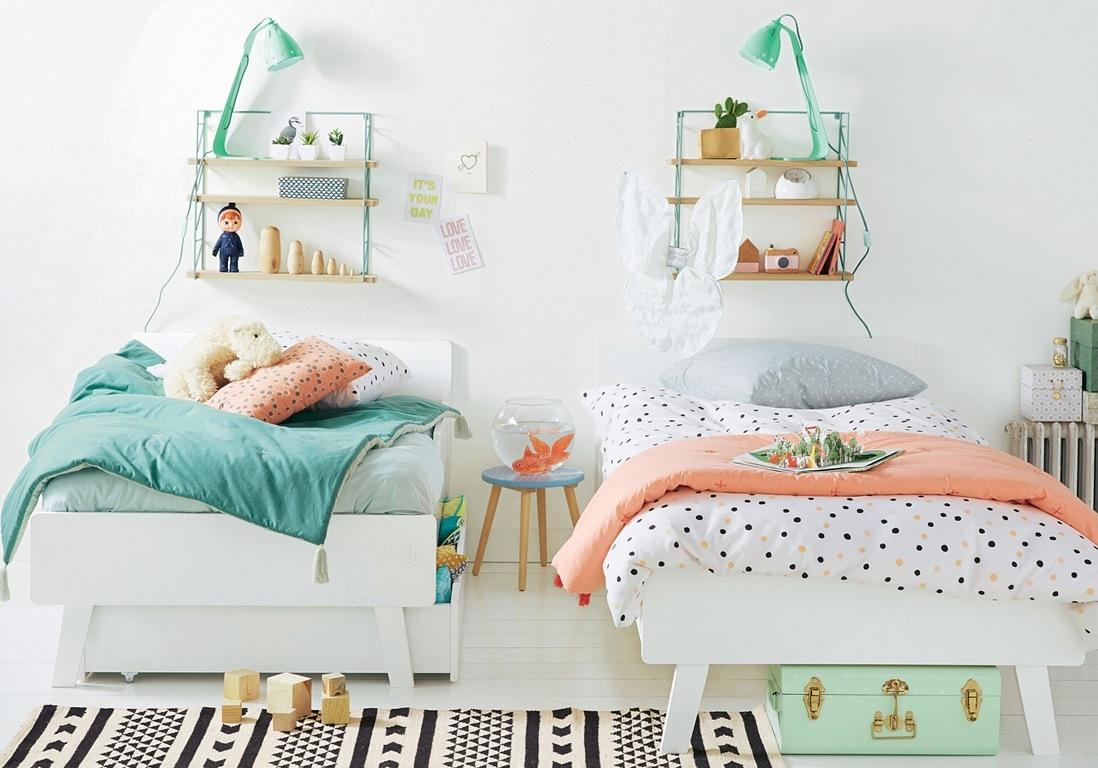 Детская для двоих детей в пастельных тонах