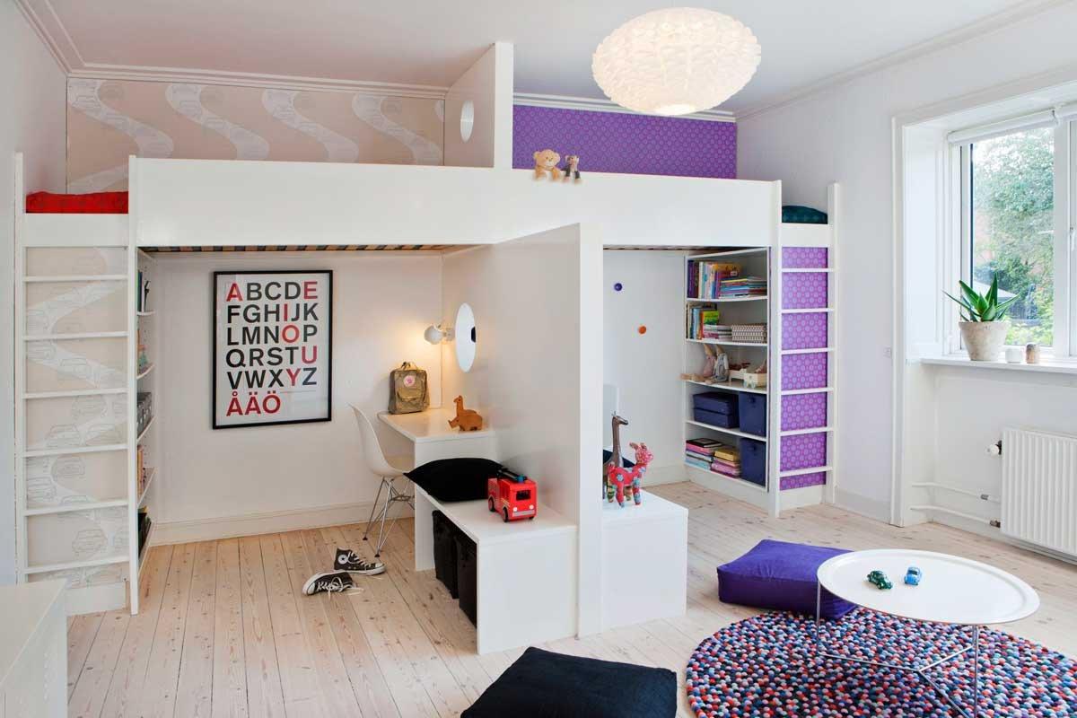 Оформление перегородки детской комнаты