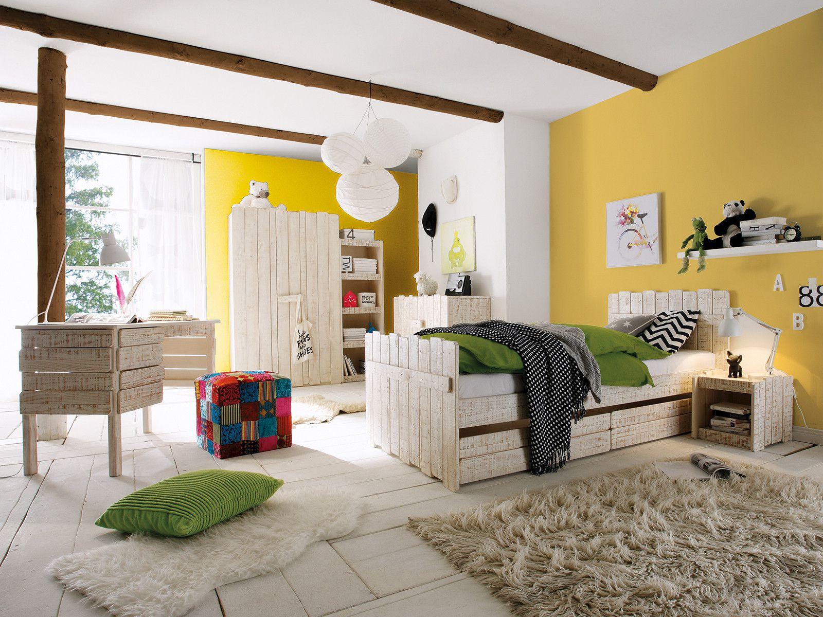 Планировка детской желтой для подростка