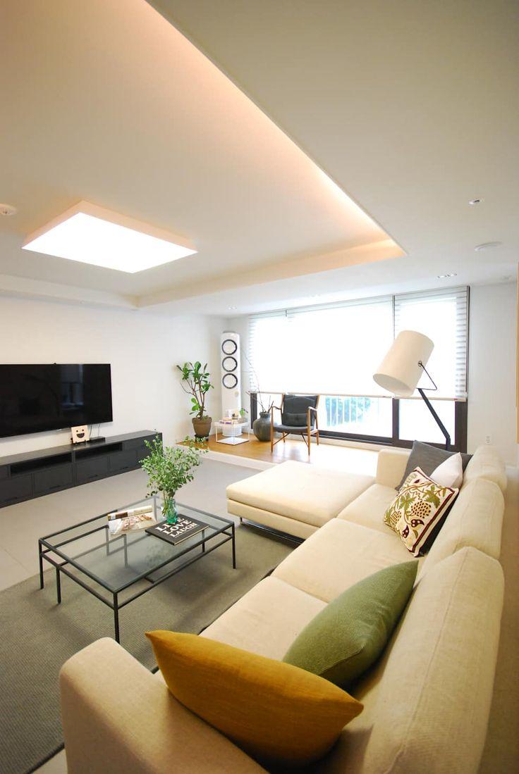Идеи зонирования потолка