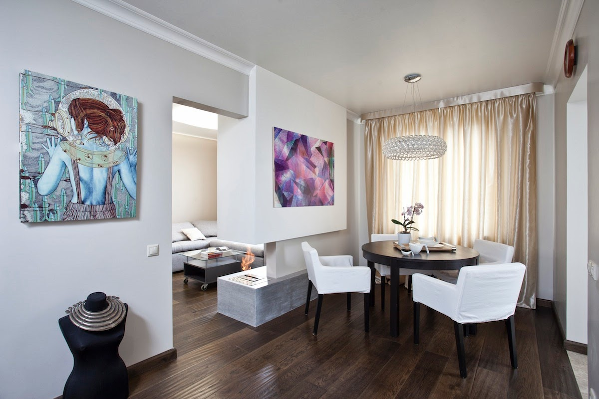 Однокомнатная квартира 40 кв м зонирование пространства
