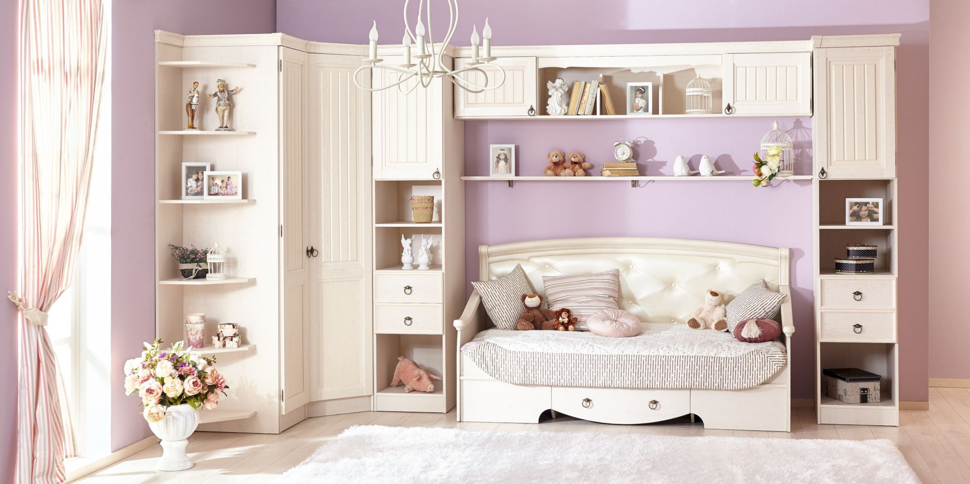 Планировка детской комнаты прованс