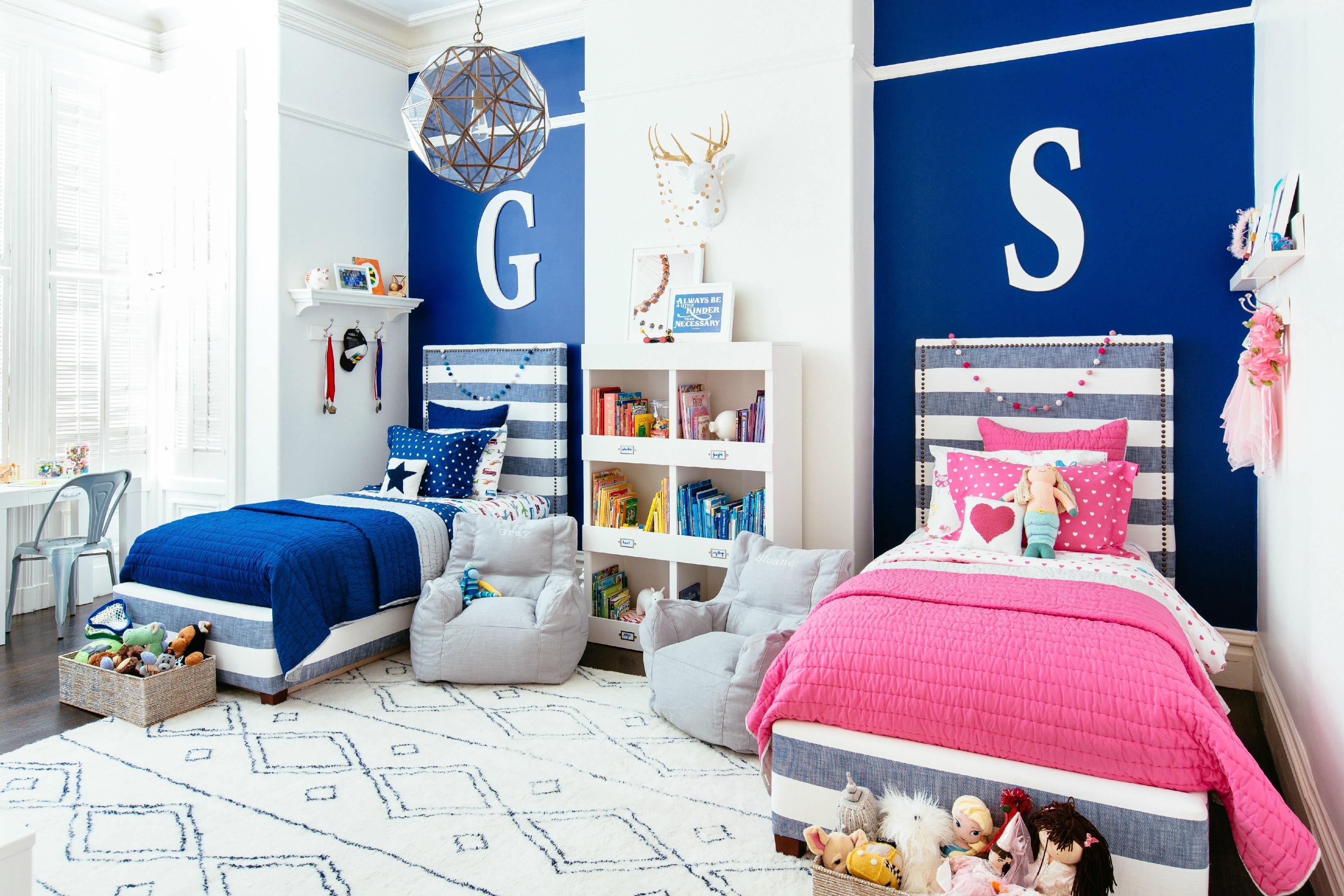 Декор детской комнаты для разнополых детей