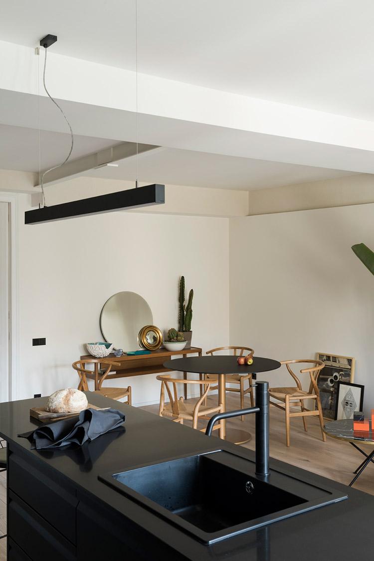 Дизайн кухни гостиной ретро