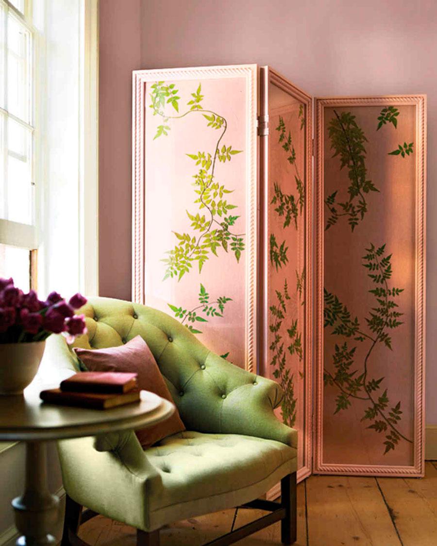 Межкомнатная перегородка розовая