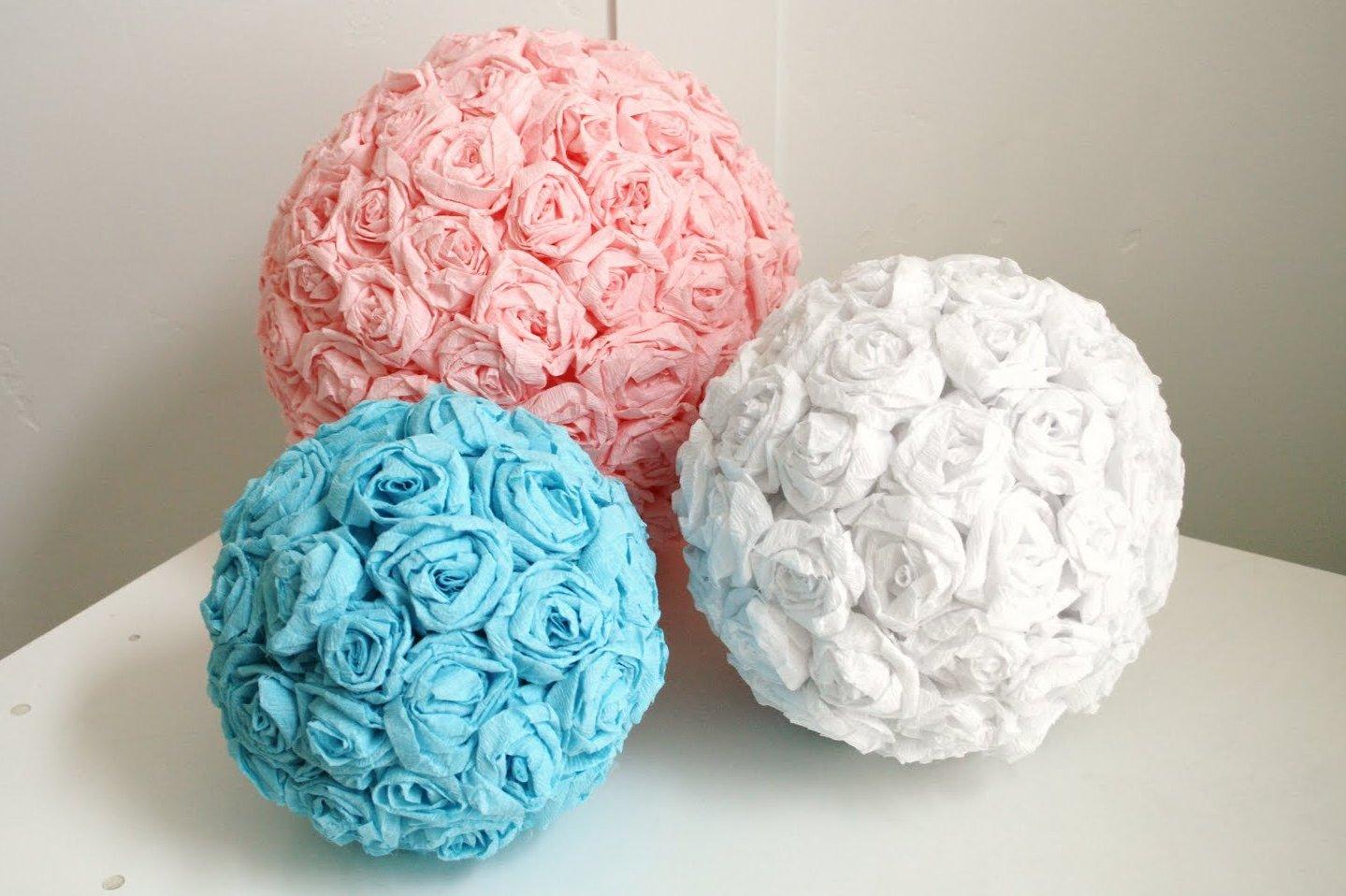 Поделки на 8 марта шары из салфеток