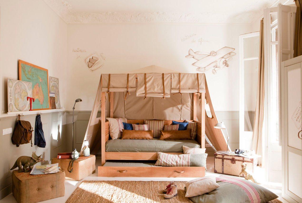 Планировка детской комнаты с самолетами