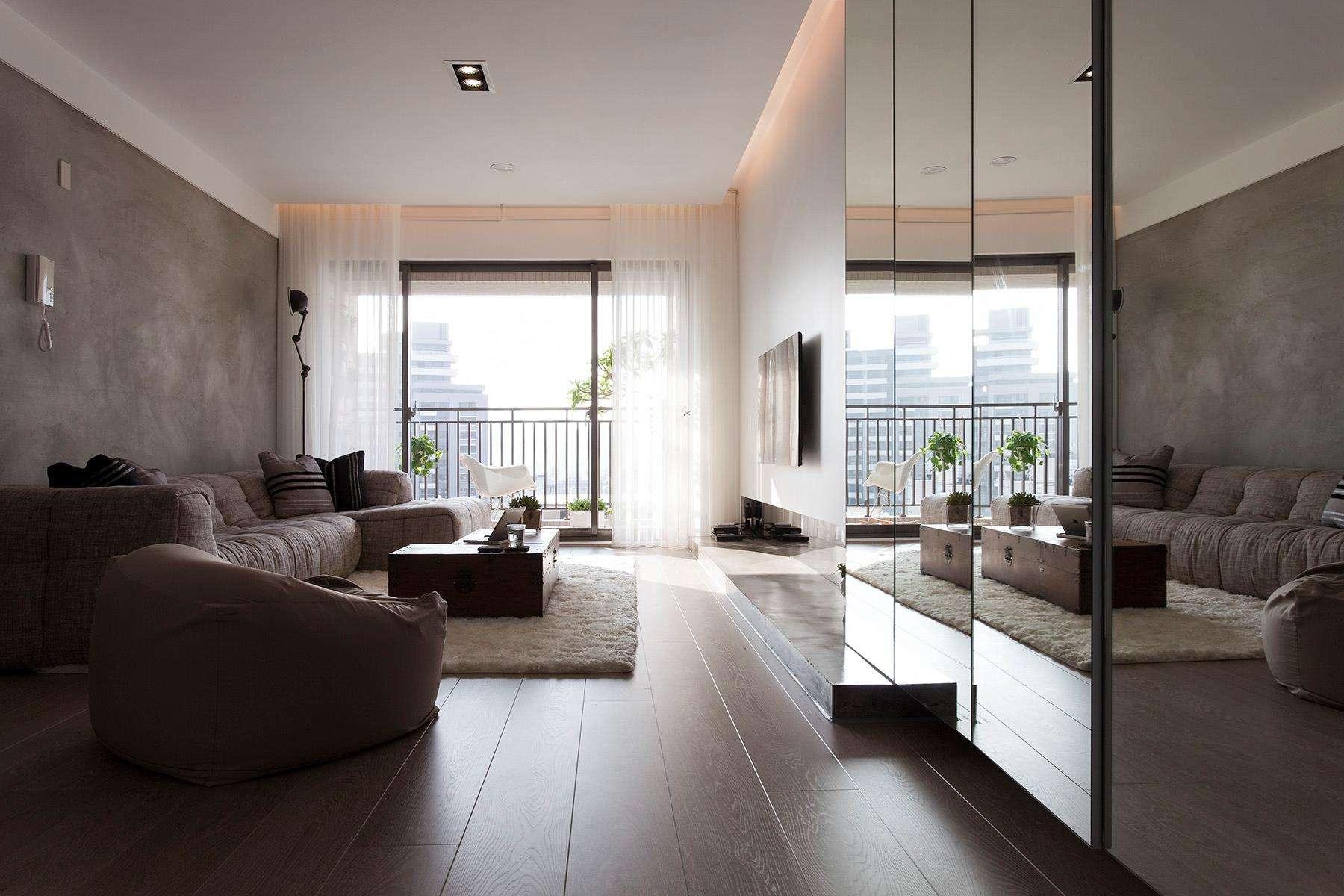 Однокомнатная квартира 40 кв м серый интерьер