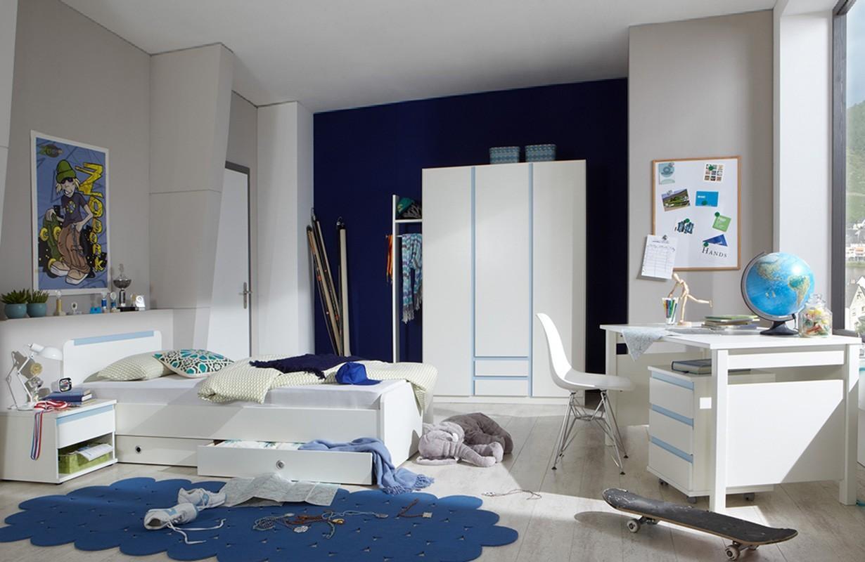Планировка детской комнаты синей