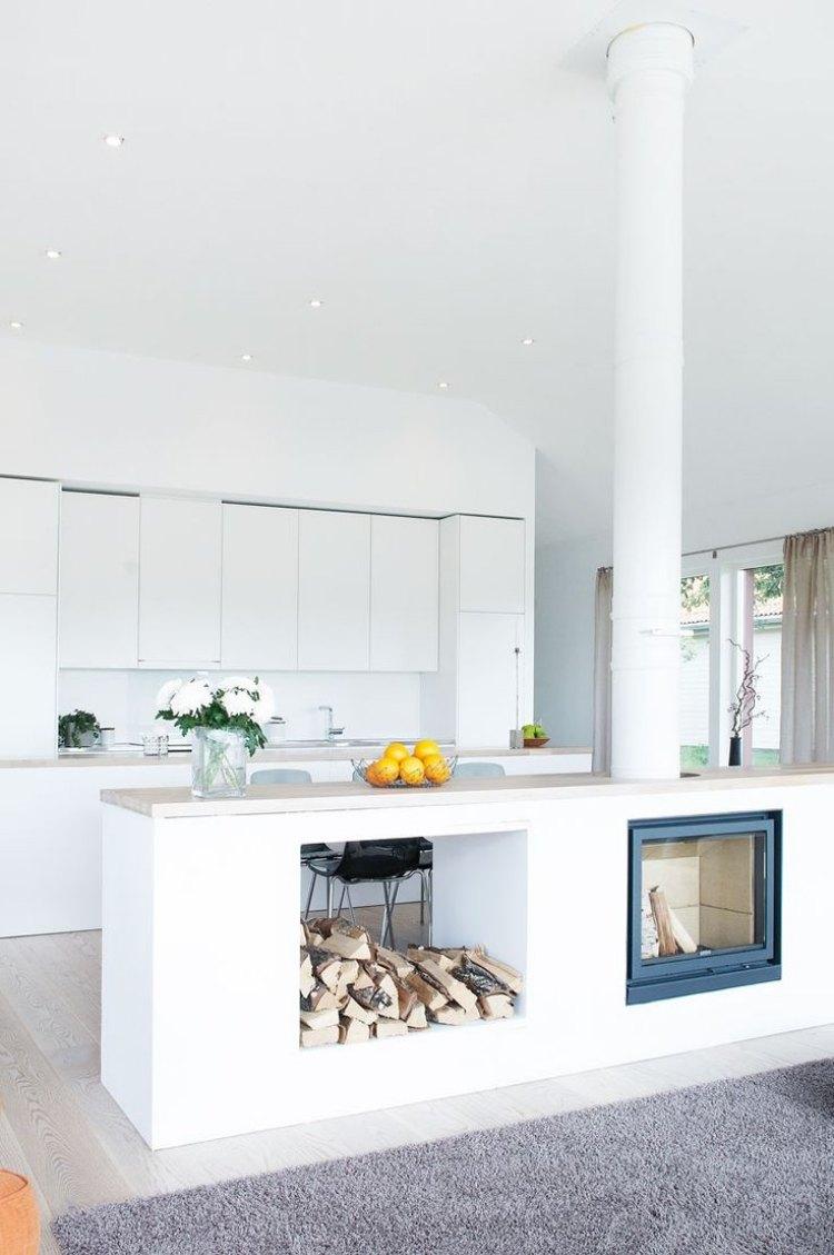 Дизайн кухни гостиной скандинавский