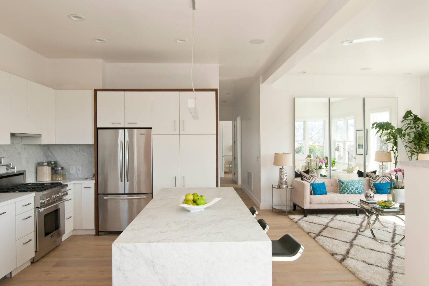 Дизайн кухни гостиной совмещенной