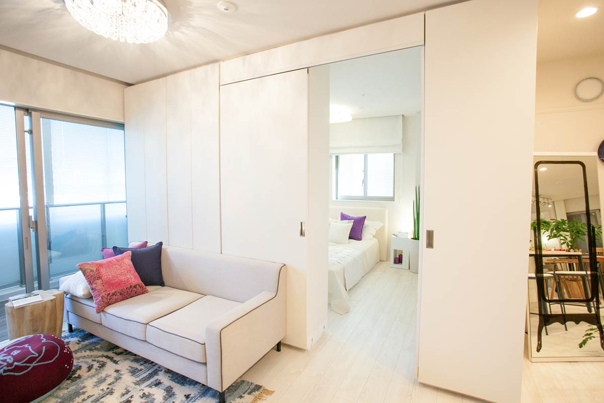 Идеи зонирования гостиной спальни