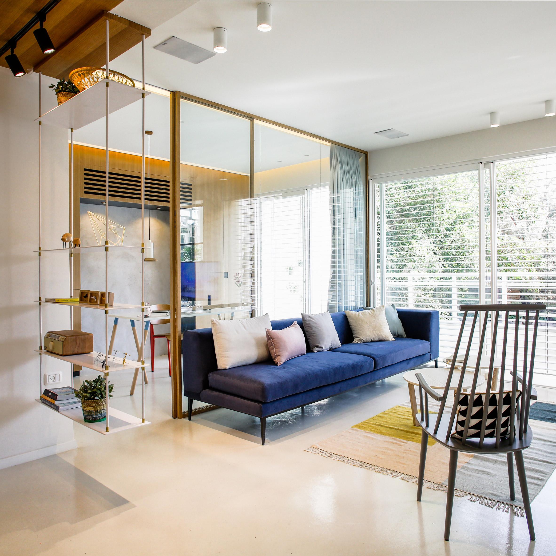 Однокомнатная квартира 40 кв м со стеллажом