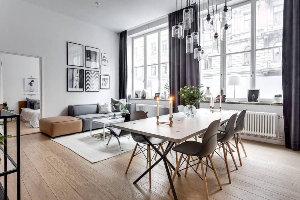 Однокомнатная квартира 40 кв м со столовой