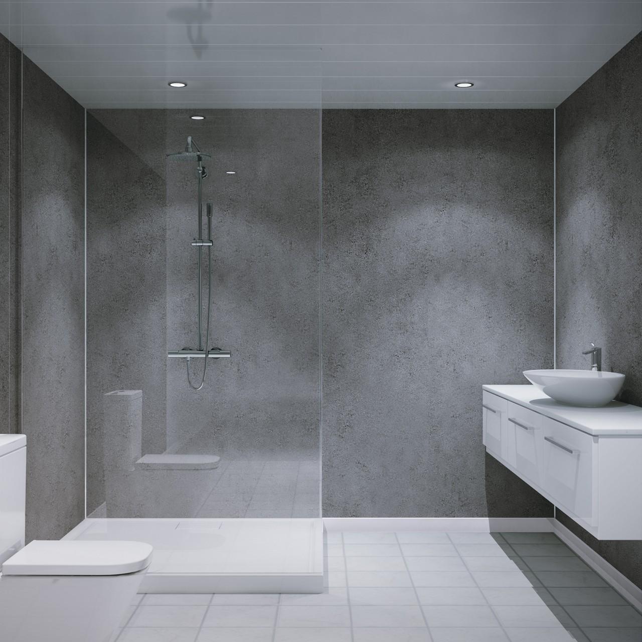 Ремонт туалета панелями темными