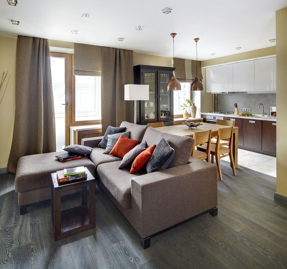 Однокомнатная квартира 40 кв м в серых тонах